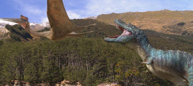 A spasso con i dinosauri: lotta per la sopravvivenza in una scena del film