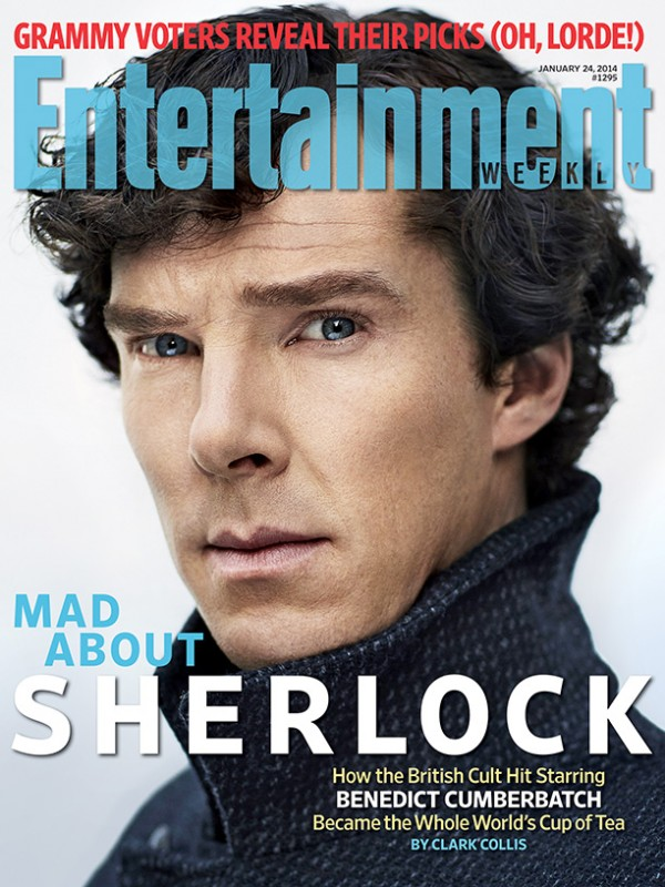 Benedict Cumberbatch nei panni di Sherlock Holmes sulla copertina di Enterteinment Weekly