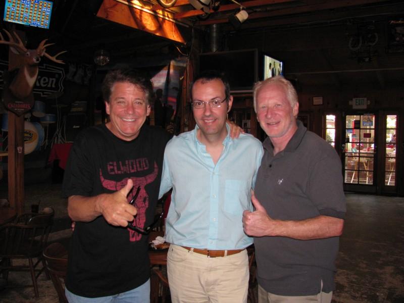 Happy Days: il presidente del fan club, Giuseppe Ganelli, con Anson Williams e Don Most a Los Angeles nel 2010