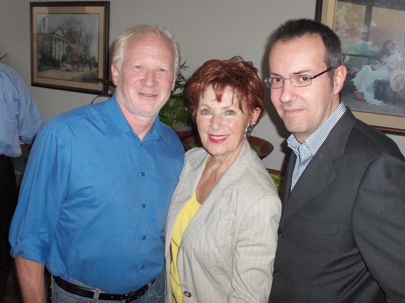 Happy Days: il presidente del fan club, Giuseppe Ganelli, con Don Most e Marion Ross a Milwakee nel 2008