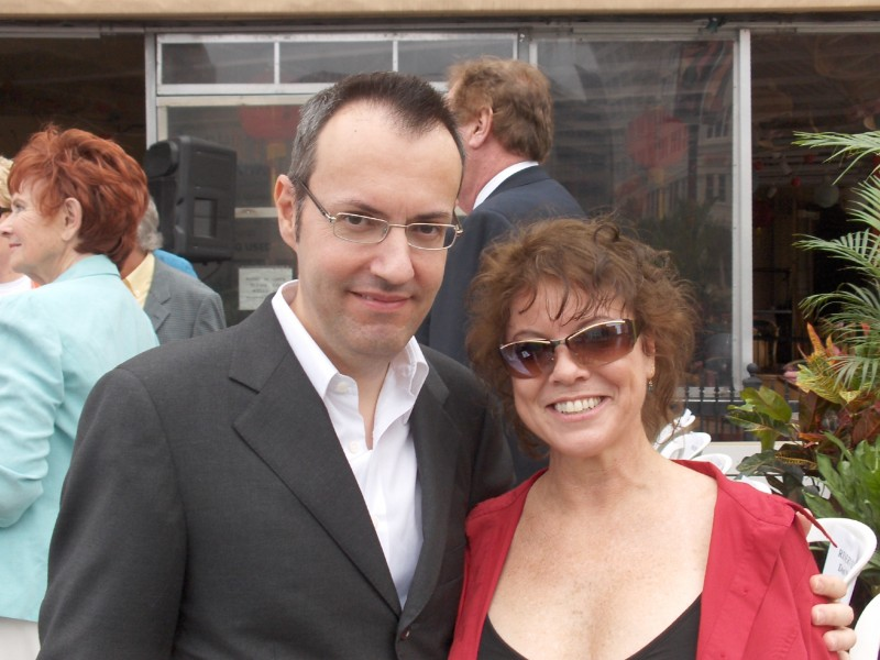Happy Days: il presidente del fan club, Giuseppe Ganelli, con Erin Moran a Milwakee nel 2008
