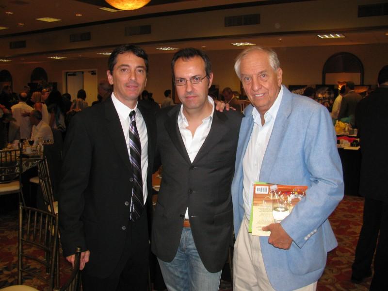 Happy Days: il presidente del fan club, Giuseppe Ganelli, con Garry Marshall al cinquantesimo compleanno di Scott Baio