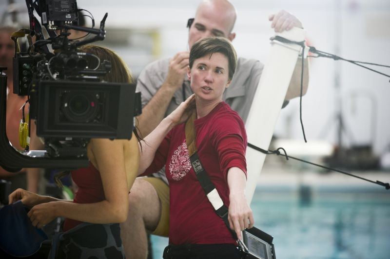 Lo sguardo di Satana - Carrie: la regista del film Kimberly Peirce sul set