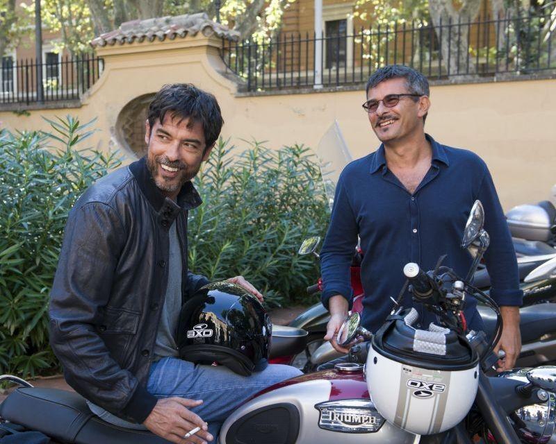 Tutta colpa di Freud: il regista Paolo Genovese sul set con Alessandro Gassman
