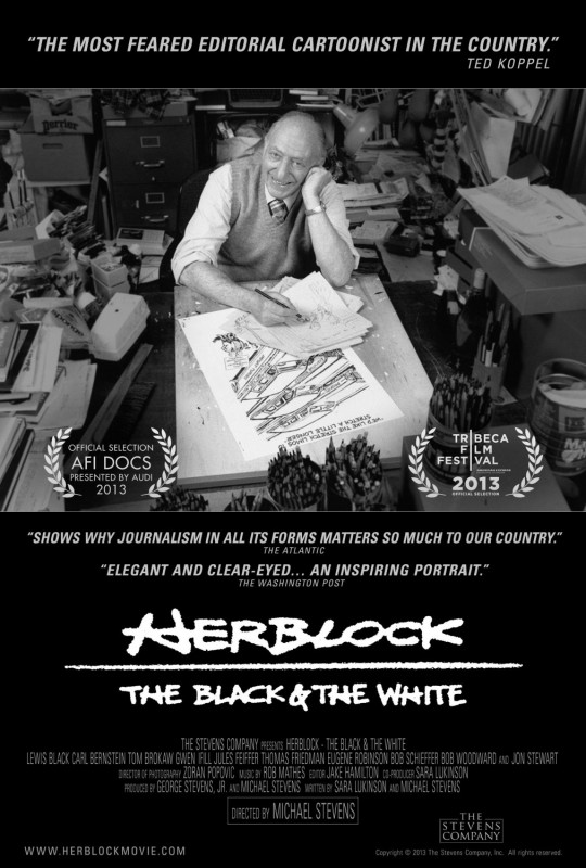 Herblock: The Black & the White: la locandina del film