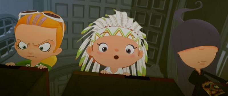 La scuola pià pazza del mondo: Miko, Mako e Mutsuko in una scena del film d'animazione