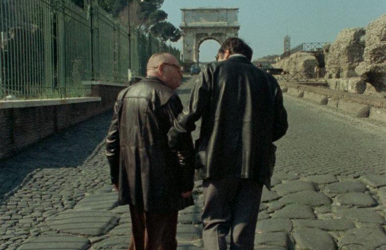 Le dernier des injustes: il regista Claude Lanzmann insieme a Benjamin Murmelstein nel 1975 a Roma