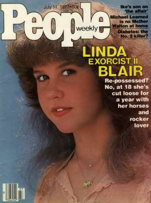 Linda Blair in cover su People per il secondo capitolo de L'Esorcista