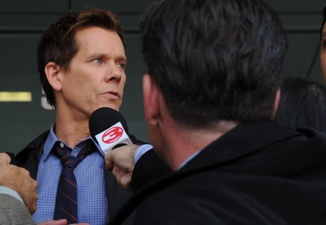 The Following: Kevin Bacon in una scena dell'episodio Resurrection