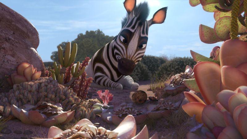 Khumba: la piccola zebra Khumba in una scena del film