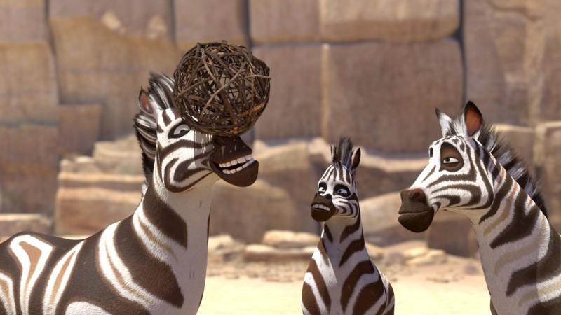 Khumba: la zebra Khumba insieme ai suoi amici in una divertente scena del film