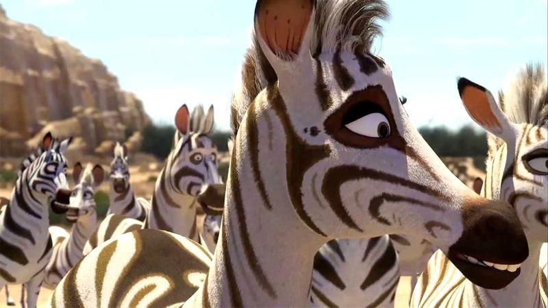 Khumba: la zebra Khumba insieme al suo branco in una scena del film