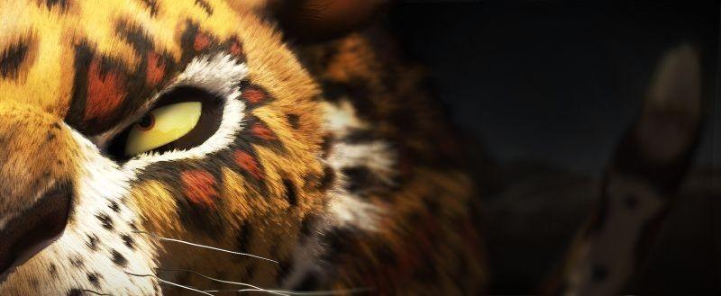 Khumba: Phango il temibile leopardo in una scena del film