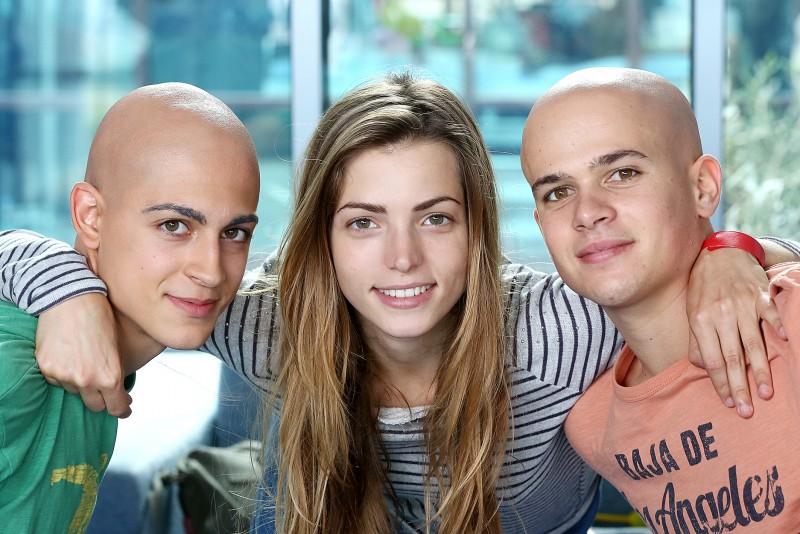 Braccialetti Rossi: Aurora Ruffino (Cris), Carmine Buschini (Leo) e Brando Pacitto (Vale) nella fiction