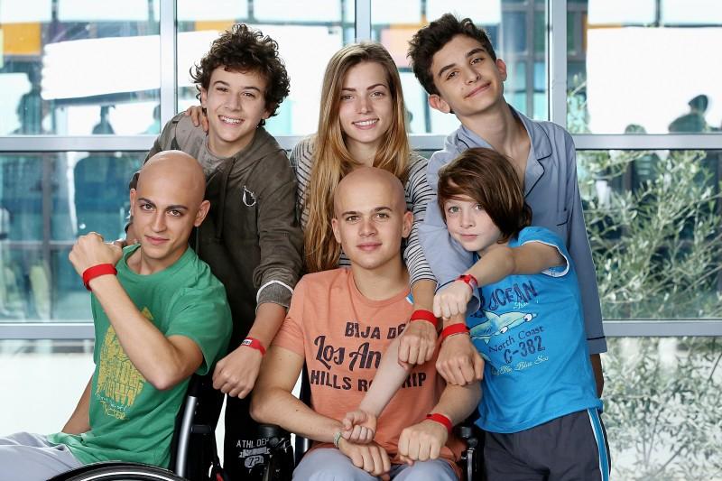 Braccialetti Rossi: Mirko Trovato (Davide), Aurora Ruffino (Cris), Pio Piscicelli (Toni), Carmine Buschini (Leo), Brando Pacitto (Vale) e Lorenzo Guidi (Rocco) nella fiction
