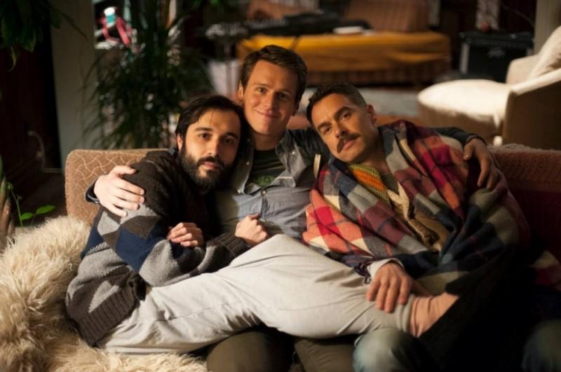 Looking: i protagonisti della serie Jonathan Groff, Frankie J. Alvarez e Murray Bartlett.