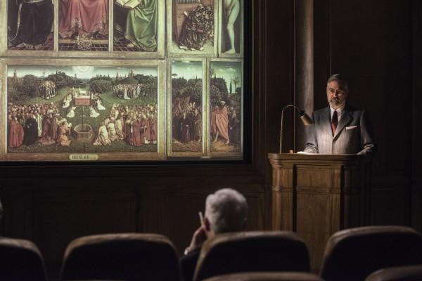 The Monuments Men: George Clooney in una scena del film