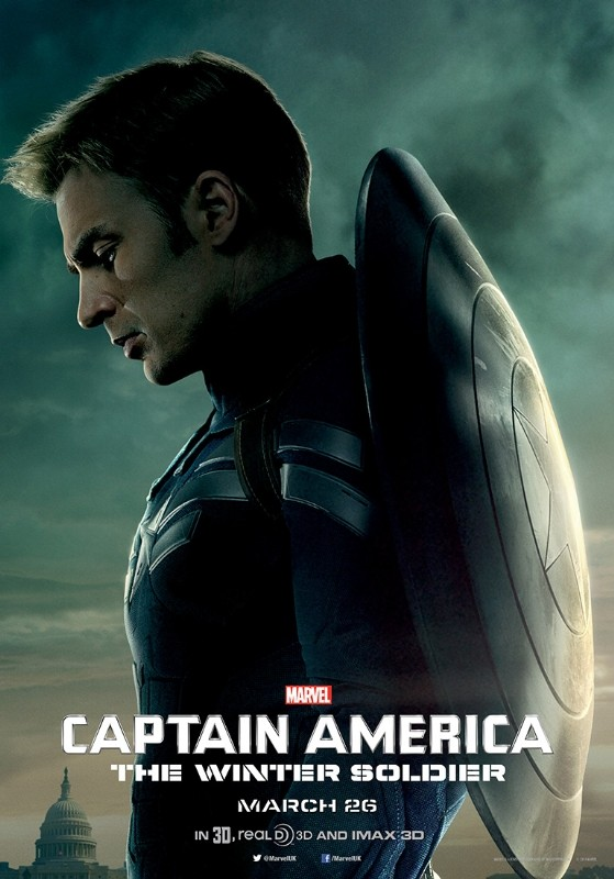 Captain America: The Winter Soldier: il character poster di Chris Evans