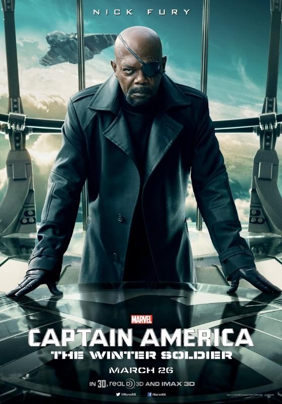 Captain America: The Winter Soldier: il character poster di Samuel L. Jackson