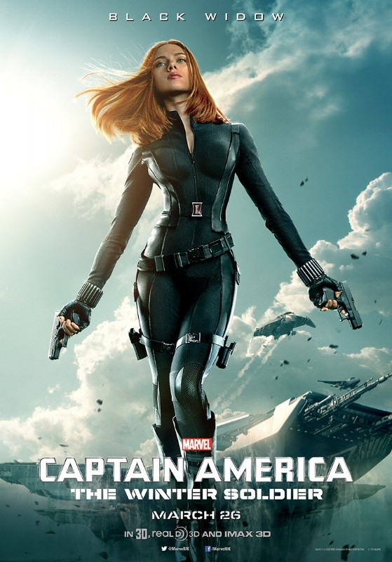 Captain America: The Winter Soldier: il character poster di Scarlett Johansson