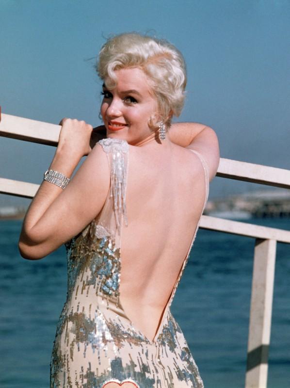 Marilyn Monroe sul set di A qualcuno piace caldo (1959)
