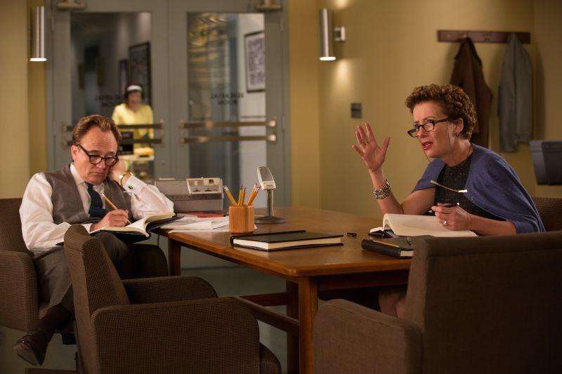 Saving Mr. Banks: Bradley Whitford in una scena del film con Emma Thompson