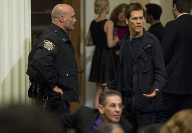 The Following: Kevin Bacon in una scena dell'episodio For Joe