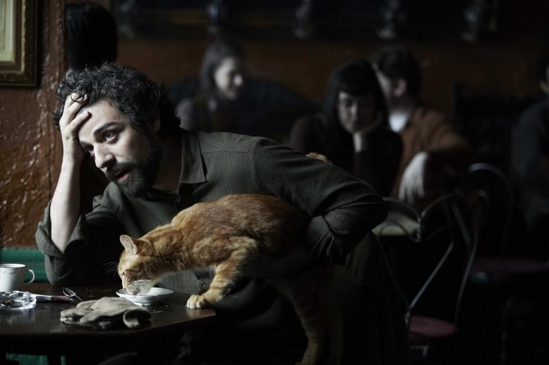 A proposito di Davis: Oscar Isaac con il suo inseparabile gatto rosso in una scena tratta dal film