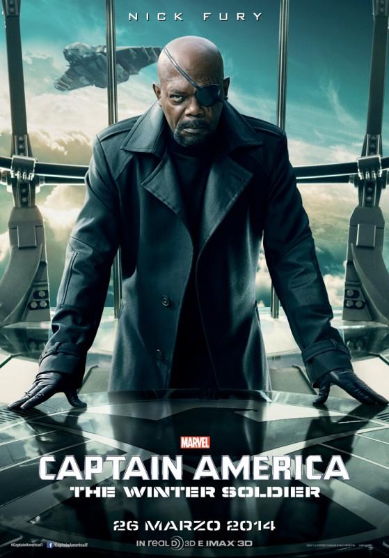 Captain America: The Winter Soldier: il character poster italiano di Samuel L. Jackson