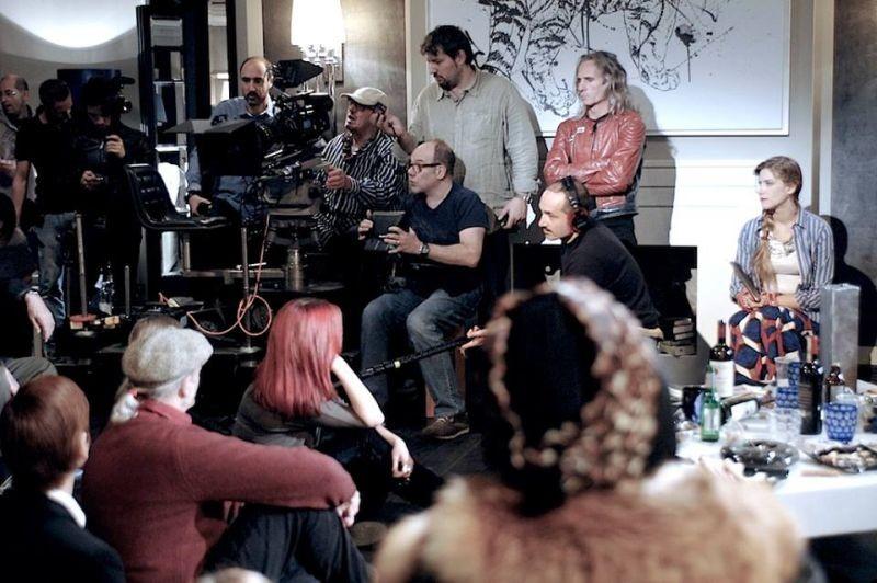 Sotto una buona stella: Carlo Verdone durante le riprese sul set