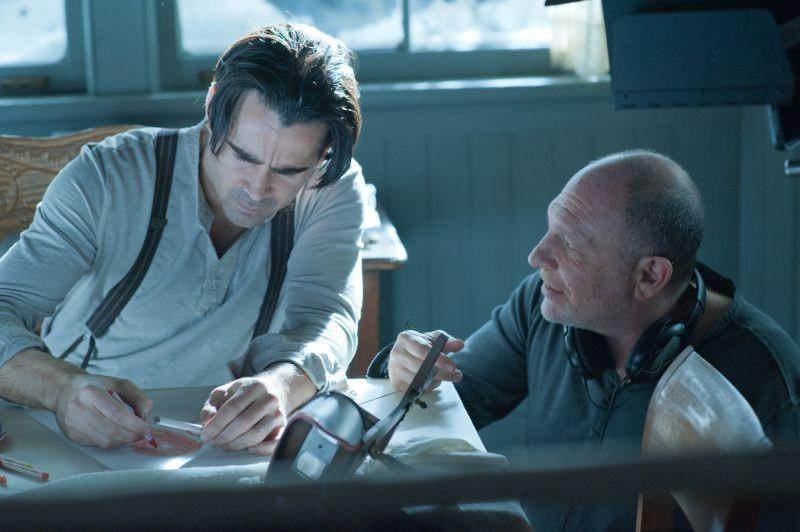 Storia d'inverno: il regista del film Akiva Goldsman sul set con Colin Farrell