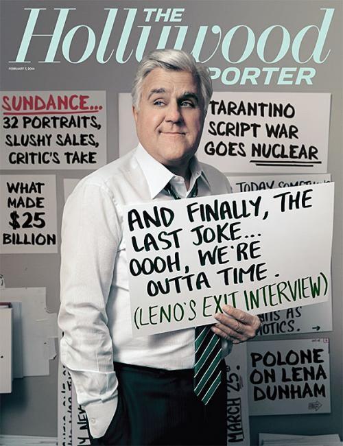 Jay Leno sulla cover di The Hollywood Reporter (febbraio 2014)