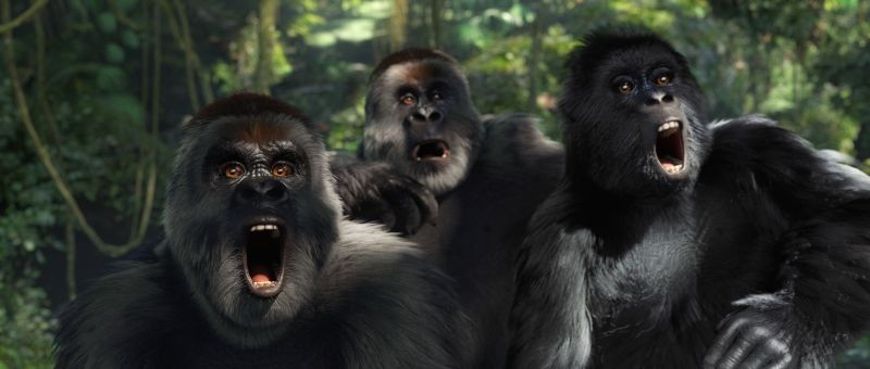 Tarzan: un'immagine dello spettacolare film animato in 3D