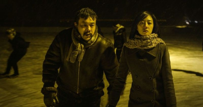Black Coal, Thin Ice: Fan Liao e Lun Mei Gwei pattinano sul ghiaccio in una scena del film