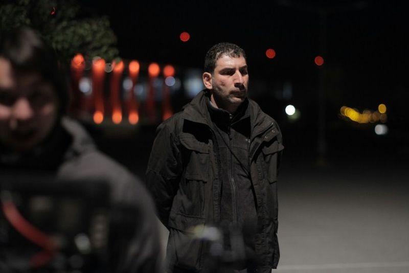 Stratos: il regista Yannis Economidis in una foto dal set
