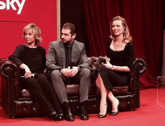 Project Runway Italia - Eva Herzigova con Alberta Ferretti e Tomaso Trussardi