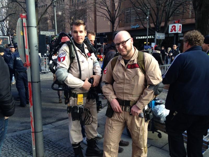 Berlinale 2014 - due ghostbuster aspettano l'arrivo di Bill Murray, il primo giorno: who you gonna call?!