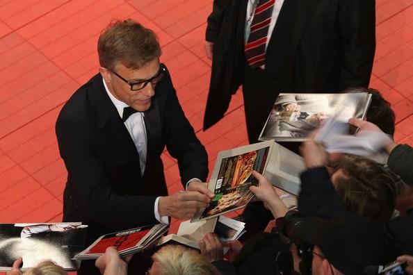 Berlino 2014: Christoph Waltz firma autografi nella serata di apertura