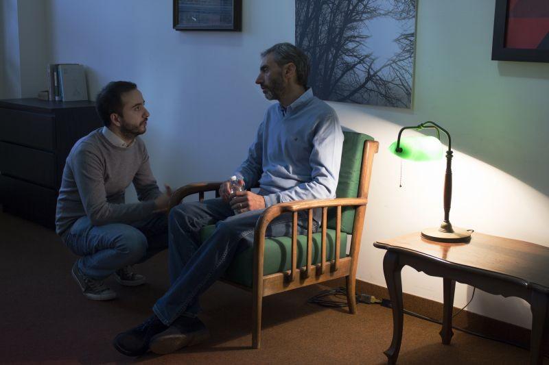 Ancora cinque minuti: Antonio Carletti sul set del film con il regista Lucio Laugelli