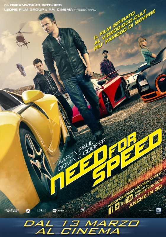 Need for Speed: la locandina italiana
