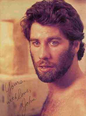 John Travolta in una foto promo autografata per Urban Cowboy