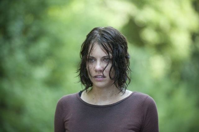 The Walking Dead: un primo piano di Lauren Cohan nell'episodio Detenuti