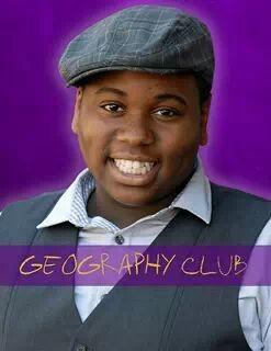 Alex Newell in una foto promozionale di Geography Club.