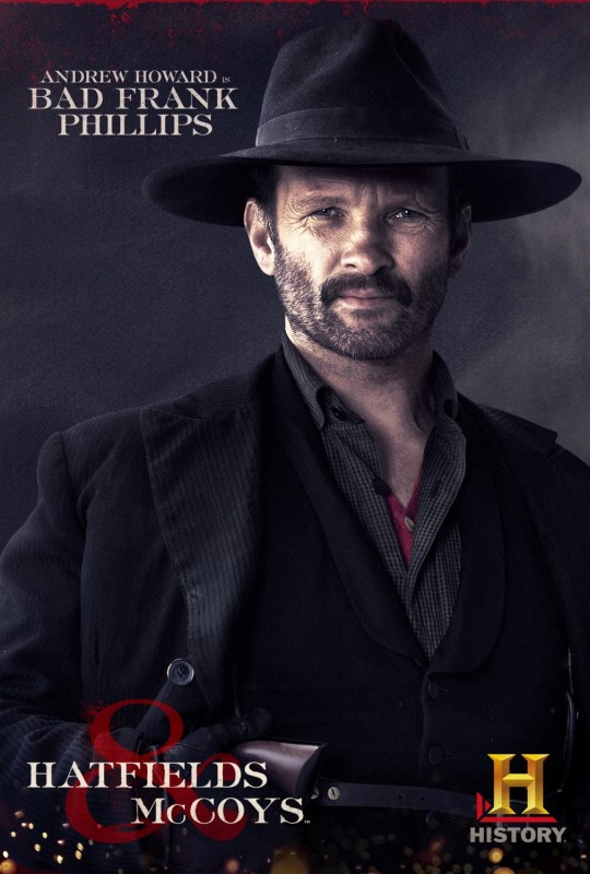 Andrew Howard in Hatfields & McCoys - character poster