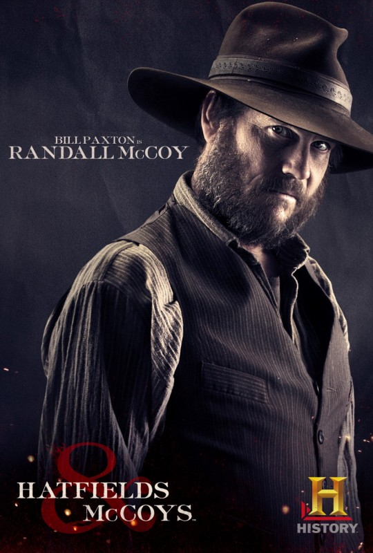 Bill Paxton in Hatfields & McCoys - character poster