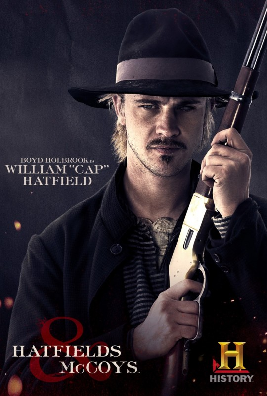 Boyd Holbrook in Hatfields & McCoys - character poster