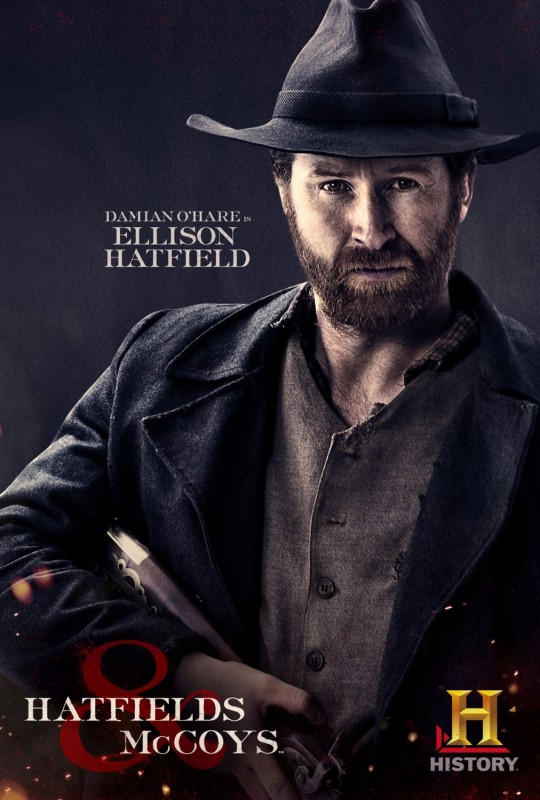 Damian O'Hare in Hatfields & McCoys - character poster