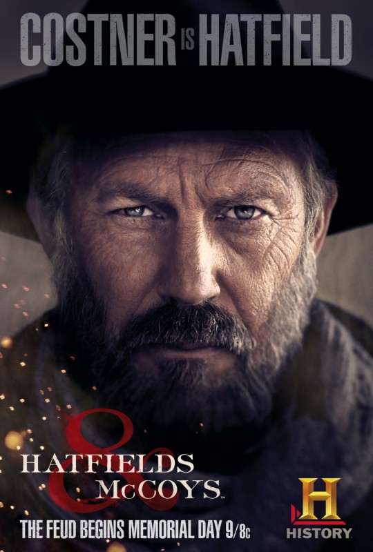 Kevin Costner in Hatfields & McCoys - character poster