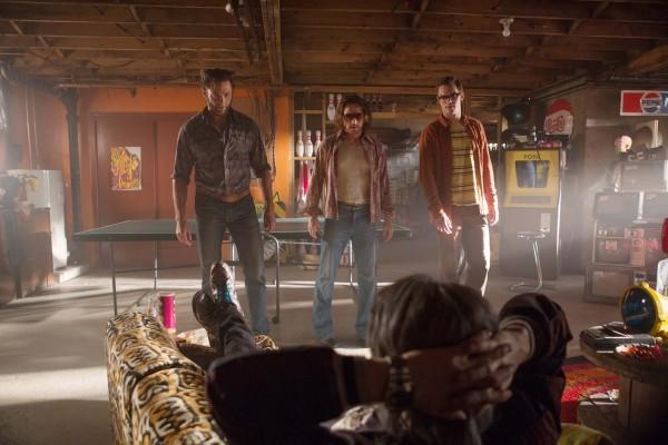 X-Men: Giorni di un futuro passato - Hugh Jackman, Nicholas Hoult e James McAvoy in un momento del film