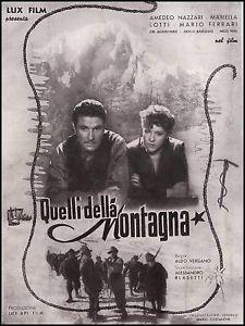 Quelli della montagna: la locandina del film